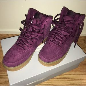 chaussures de sport 9ce07 15d56 Nike Air Force 1 High Wb Bordeaux Big Kids Girl NWT